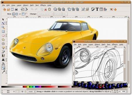 Бесплатный графический редактор Inkscape