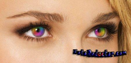 Урок Photoshop - радужные глаза