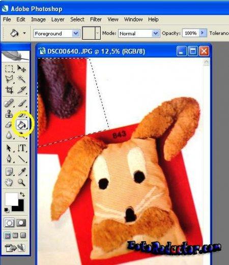 Закрашиваем часть изображения в Photoshop