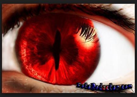 Как убрать эффект красных глаз и обработать белки в Photoshop?