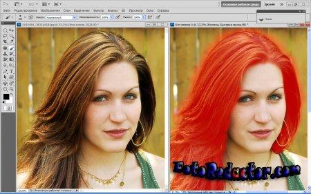 Как изменить цвет волос в Photoshop?