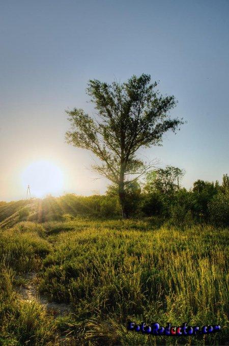 Как создать на фотографии эффект объемных лучей