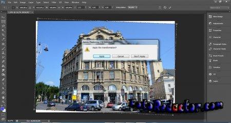 Исправление искажения перспективы в Photoshop