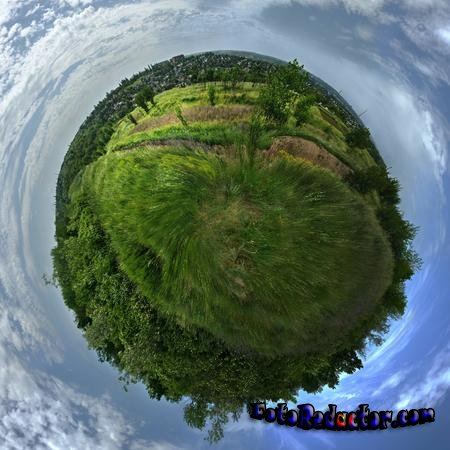 Создаем панораму Маленькая Планета в программе фотошоп