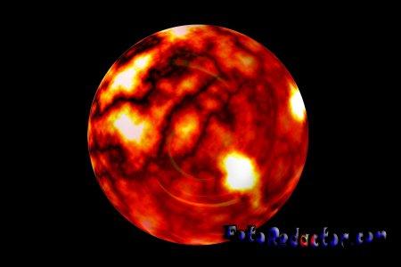 Раскаленная планета в Photoshop