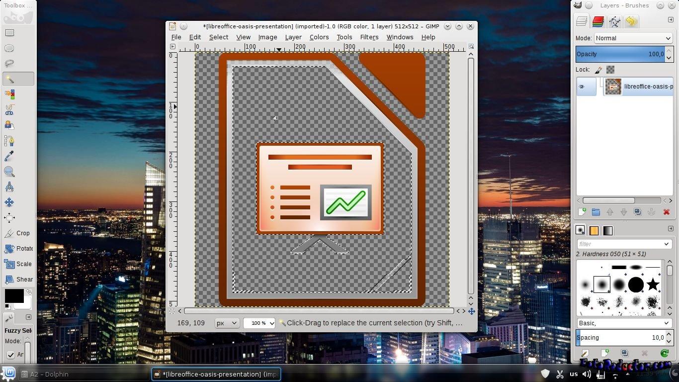 Как сделать белый фон прозрачным в gimp